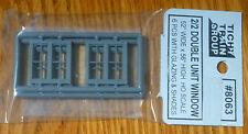 Tichy Train Group #8063 (HO Scale)Windows - Double Hung pkg(6) -- Double 2/2 Mat