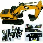 For Huina 550 15 Channel RC Excavator Amewi Decals 1/14 CAT 320D Sticker BEU