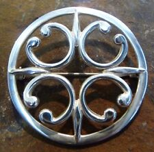 1976 Ola Gorie Orkney Plata ST Magnus Catedral Broche Pin Escocés