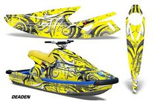 AMR Racing Jet Ski Wrap Yamaha Wave Blaster Graphics Kit 1993-1996 DEADEN YELLOW