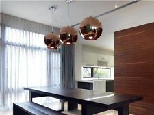 20CM Copper Mirror Glass Ball Shade Ceiling Light E27 Bulb Pendant Lamp