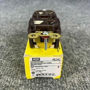 Hubbell HBL5462 Duplex Receptacle Brown 20A 250V