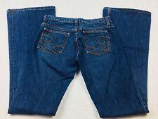 "Juicy Couture Jeans Women's 27 Flare Cut Dark Wash Denim Pants Inseam 34"" (U"