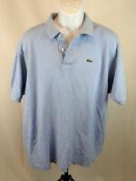 Lacoste Men's Size 9 XXLarge Short Sleeve Light Blue Polo Shirt 2XL