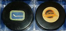 VINTAGE VICEROY VANCOUVER CANUCKS HOCKEY game PUCK LOT NHL CANADA rubber crest