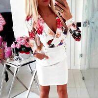 Summer V Neck Dresses Casual Fashion Women Floral Dress sundress Maxi beach