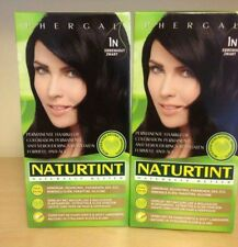 Naturtint Permanent Colourant Dye Hair 4 packs X 165ml Ebony Black 1N