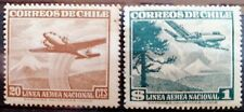 CHILI - 1950 - POSTE AERIENNE - LOT DE 2 TIMBRES - NEUF**