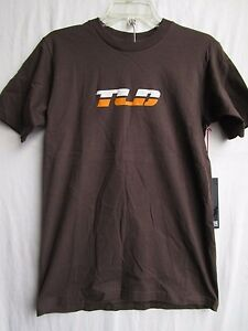 """TROY LEE DESIGNS TLD tee t shirt MENS SMALL """"TURBO"""" 1844-0908 brown"""