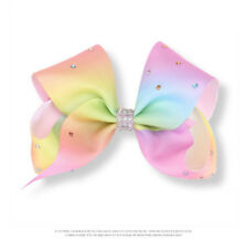HOT Jojo Siwa Fashion Girls Rainbow Multi Coloured Ribbon Hair Bow Clip Gift -02