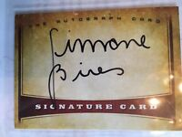 Simone Biles Autograph Card. Olympic Gold winning Gymnast.