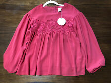 Authentic Girls Chloe Crepe Blouse Size 14Y