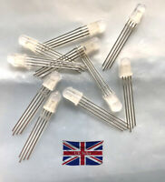 50Pcs Common Cathode Super Bright Bulb Lamp Led Diffused Rgb 4-Pins F5 5Mm bh