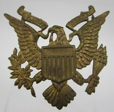 Vintage Original Pre Ww2 Wwii Army Officer Eagle Military Hat Badge Pin