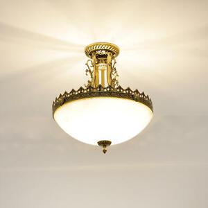 Deckenlampe Jugendstil Messing Deckenleuchte Wohnzimmer 3 flammig rund Esszimmer