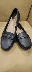 Clarks Ashland Lily Black Loafers 12 W