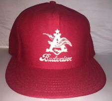 Vtg Budweiser Eagle Beer Snapback hat cap rare 80s MADE IN USA brew party frat