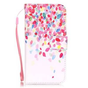 For iPhone 5/6/7/8/X Samsung Magnetic Flip Wallet Pattern PU Leather Stand Case