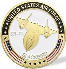 Military Challenge Coin United States Air Force SR-71 Blackbird Gold plated