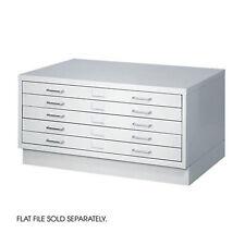 4970lg Safco Light Gray Facil Flat File Closed Base Small Media Storage Cabinet
