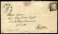 "ASI Sardegna 1862 n. 14Db - usato su busta ""Prato"" (m392)"