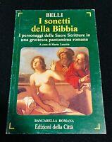 I Sonetti Della Bibbia Giuseppe Gioacchino Belli Libro Come Foto Poesia Roma N