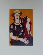 Henri Matisse Lithograph Femme A La Chaise Rouge Limited Edition Mourlot 1954