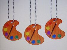 12 Paint Palette DOG TAGS art artist classroom student necklaces CUTE favors