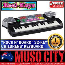 """New Kool Keys """"Rock N Board"""" 32 Key Children's Kids Keyboard Toy Animals (Black)"""