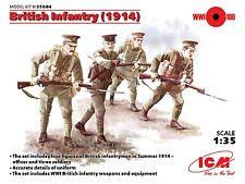 WW I Infantería británica 1914 (con armas) 1/35 ICM Nuevo