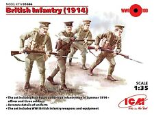 WW I BRITISH INFANTRY 1914 (WITH WEAPONS) 1/35 ICM  BRAND NEW