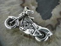 Ketten Anhänger Motorrad V2 Big Twin Silberanhänger Motobike Silber 925