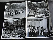 Vintage 1950s- USA Military Academy Graduation- Set of (4) Black- White Photos.