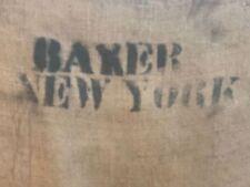 """Burlap Sack """"Baker New York"""" 20"""" X 35"""""""