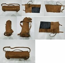 REAL Chef coltelli BAG/Astuccio/roll/puro fatto a mano in pelle vera vintage Tan