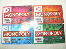 Monopoly Zapped Replacement Spare Money Cards SET OF 4 PLAYER BANK CARDS