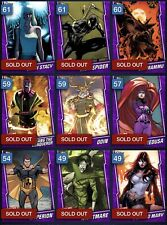 Topps Marvel Collect PURPLE BASE TIER 6 LOT #2 - 9 CARDS; IRON SPIDER, MEDUSA +