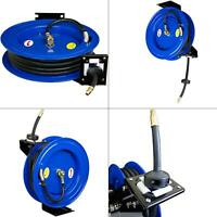 cyclone pneumatic 50 ft. x 3/8 in. retractable air hose reel | compressor holder