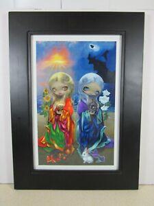 Jasmine Becket-Griffith art print Sun Child and Moon Child SIGNED FRAMED, EUC