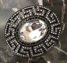 bce2ce840 Beautiful HEIDI DAUS Large Clear Crystal Greek Key Deco Design Pin Pendant