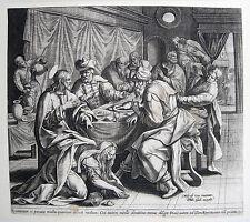 MARTEN DE VOS SALBUNG IN BETHANIEN 1580 MARIA MAGDALENA SALBT CHRISTUS DIE FÜSSE