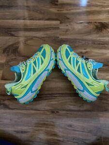 Unisex Hoka One One Mafate Speed Running Trainers UK9 Yellow/blue