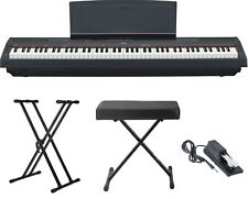 Yamaha P-115 88-Key Digital Piano Keyboard (Black) with Stand, Pedal and Bench