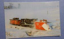 CN Rail Snow Plow Clears Bedford Subdivision Nova Scotia in 1987 Postcard