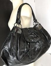 2e037a587586 100% MIU MIU Very Large Black Leather Shopper Tote Hobo Shoulder Handbag  GREAT