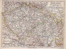 BÖHMEN Mähren Österreich-Schlesien LANDKARTE von 1889