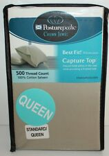 Sealy Posturepedic Crown Jewel Standard/Queen 2 Pillowcases Green 500Tc