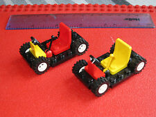 LEGO Set of BLACK 2 Cars / Gocarts + White Wheels, Tyres, Seat & Gear Stick