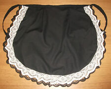 ADULT'S LADIES FRENCH MAID  WAIST  WAITRESS APRON   white/black lace fancydress