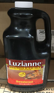 LUZIANNE 1 Bottle x 64oz SWEETENED  Brewed ICED TEA CONCENTRATE, Yields 6 gal